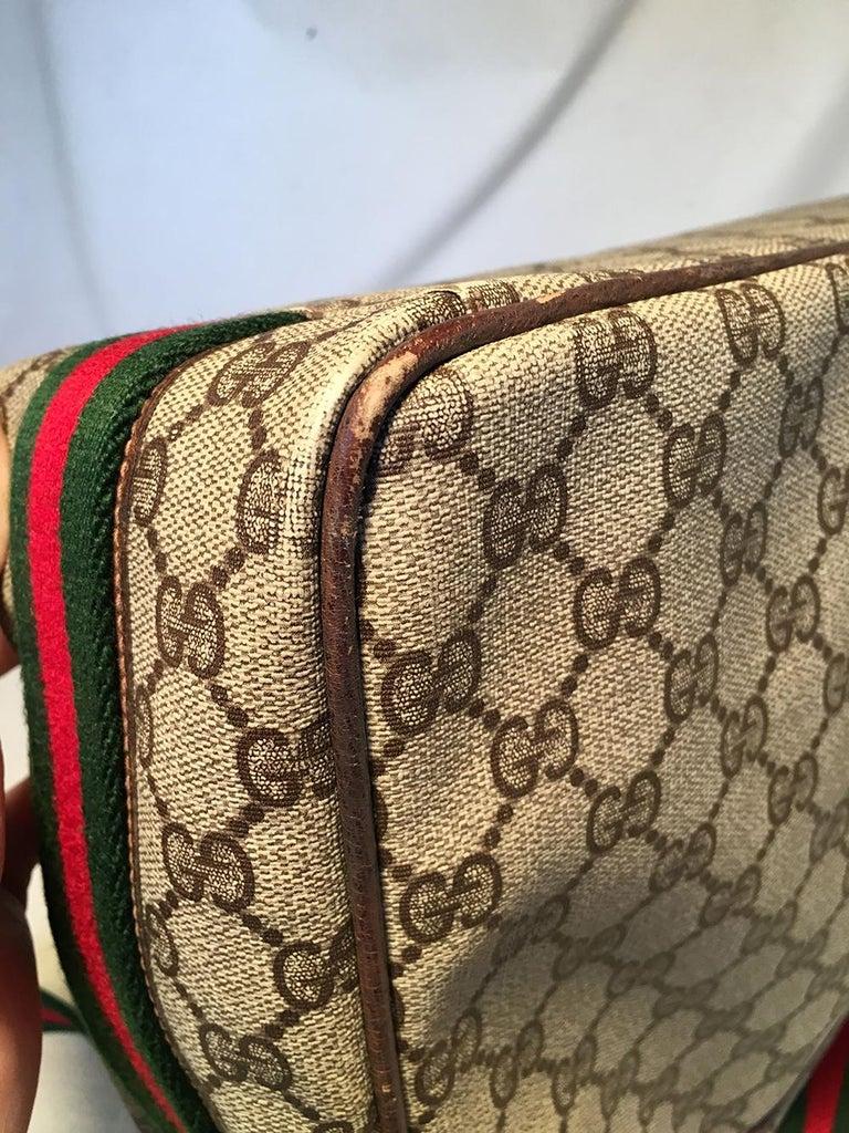 Gucci Vintage Monogram Customized Ladybug Reporter Messenger Shoulder Bag For Sale 7