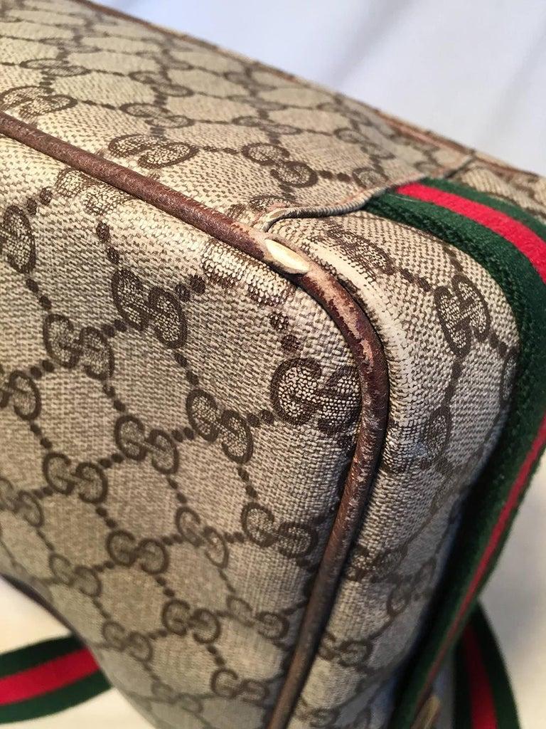 Gucci Vintage Monogram Customized Ladybug Reporter Messenger Shoulder Bag For Sale 8