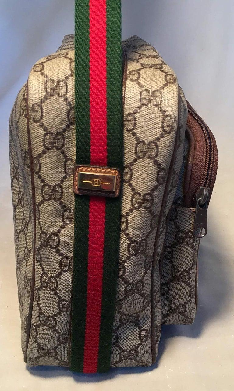 Black Gucci Vintage Monogram Customized Ladybug Reporter Messenger Shoulder Bag For Sale