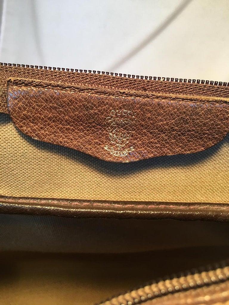 Gucci Vintage Monogram Customized Ladybug Reporter Messenger Shoulder Bag For Sale 3
