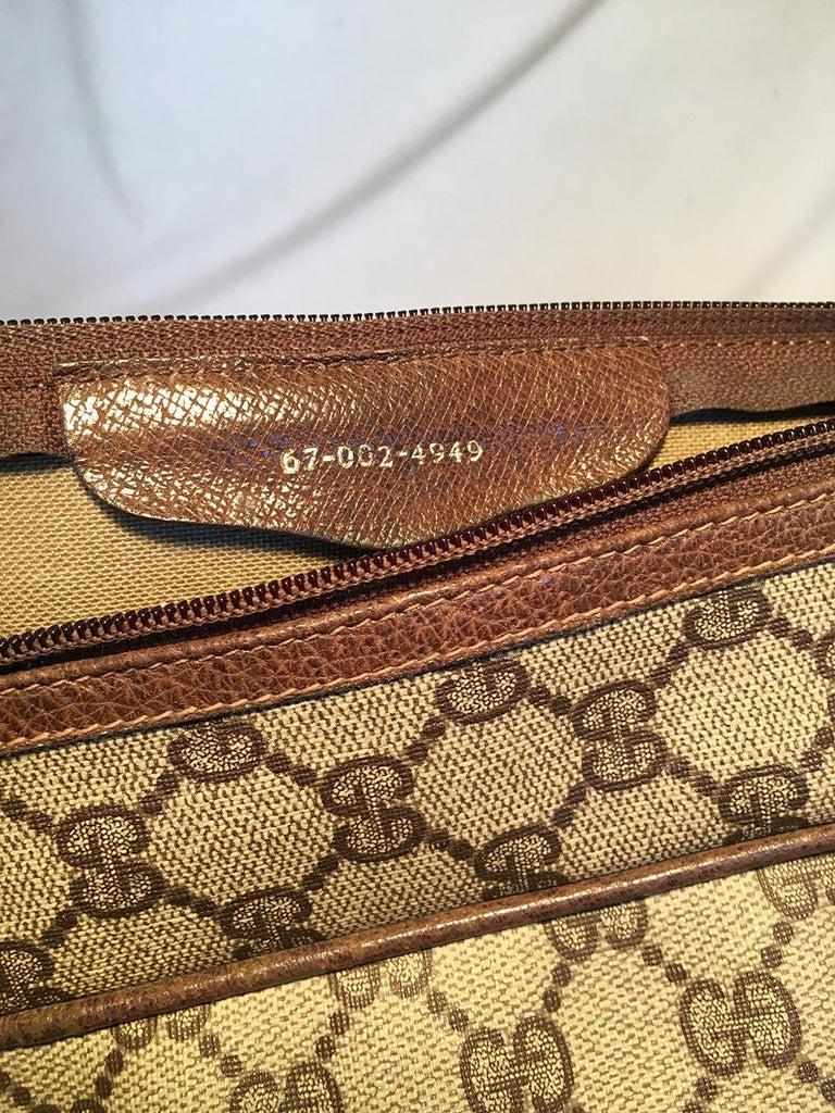 Gucci Vintage Monogram Customized Ladybug Reporter Messenger Shoulder Bag For Sale 4