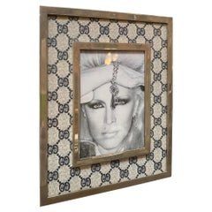 Gucci Vintage Monogram Picture Frame, Italy, 1970s