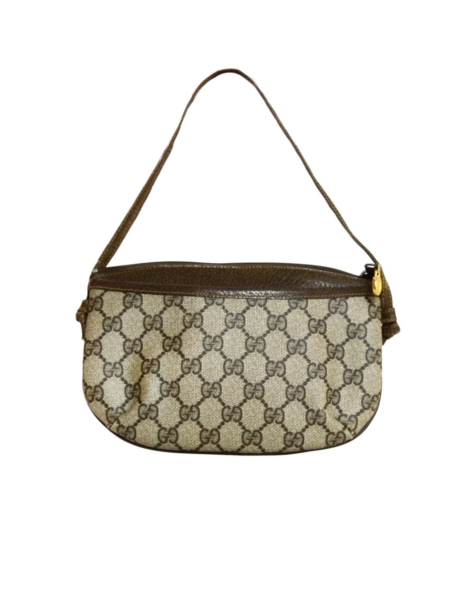 fe4246163ec9 Gucci Vintage Monogram Supreme Zip Top Pochette Bag For Sale at 1stdibs