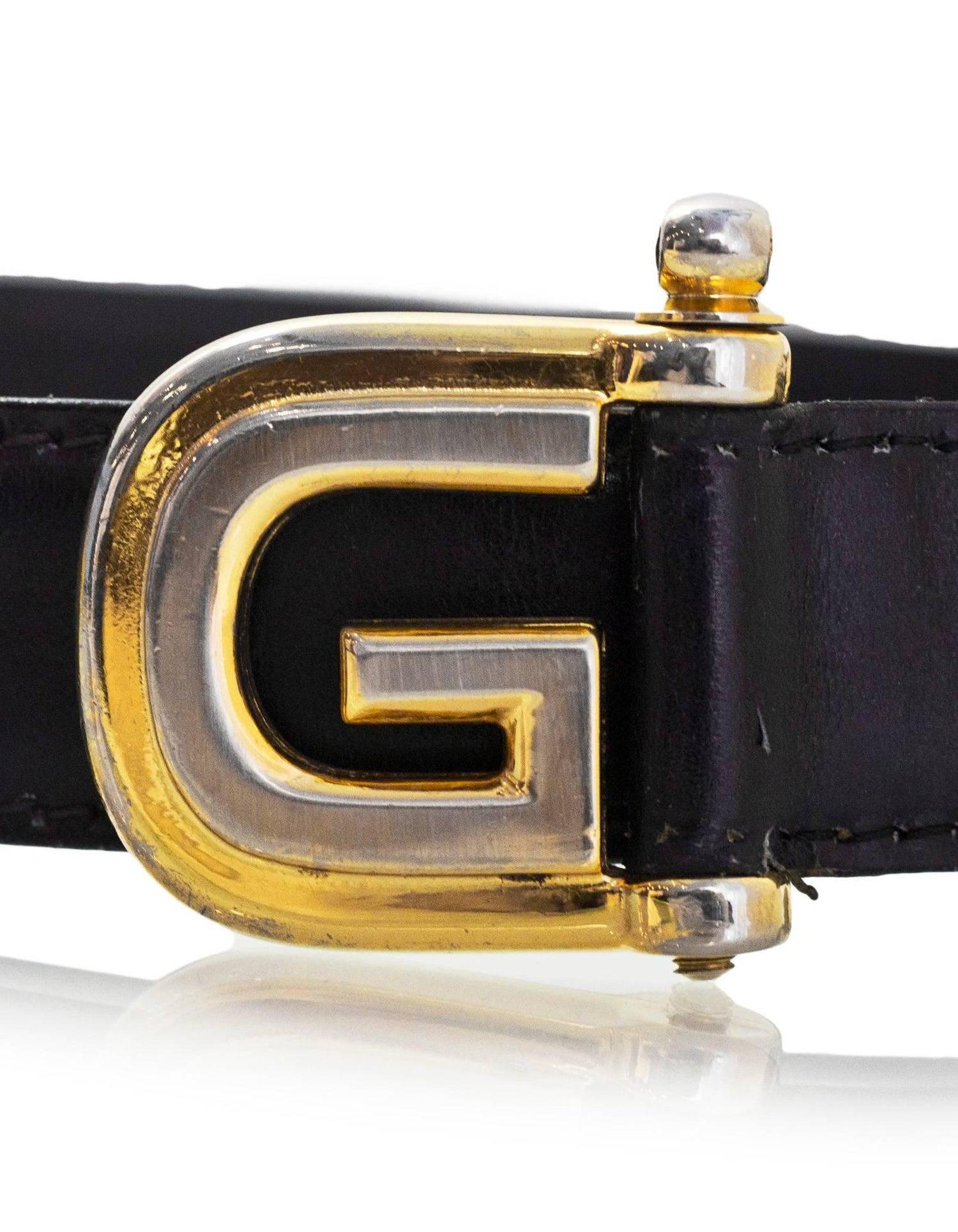 9838171c0 Gucci Vintage Navy Leather G Belt Sz 75 For Sale at 1stdibs