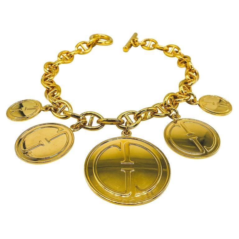 GUCCI Vintage Necklace 1990s For Sale