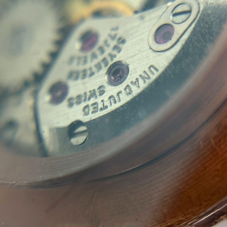 Gucci Vintage Pink Lucite Manual Wind Wrist Watch Bracelet Bangle Rare For Sale 2