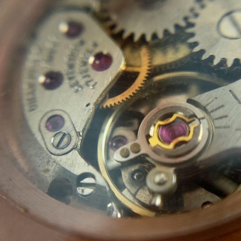 Gucci Vintage Pink Lucite Manual Wind Wrist Watch Bracelet Bangle Rare For Sale 3