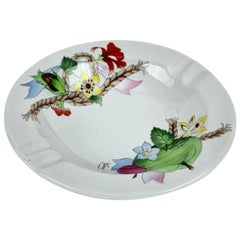 Gucci Vintage Porcelain Cesti e Nastri Floral Round Ashtray