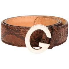 Gucci Vintage Python Belt (Size 34)