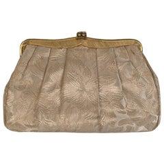 Gucci Vintage Rare Ivory Floral Jacquard Clutch Evening Bag