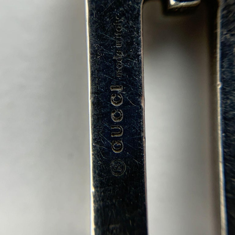 Women's or Men's Gucci Vintage Sterling Silver 925 Double Chain Unisex Bracelet For Sale