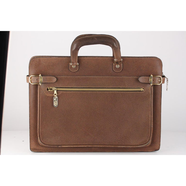 0e55fa6c8cc Gucci Vintage Tan Leather Briefcase Work Business Bag Material  Leather  Color  Brown Model
