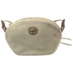 Gucci Vintage Tan Suede and Leather Cross-body Shoulder Bag