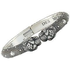Gucci Vintage Tiger Sterling Silver Cuff Bracelet