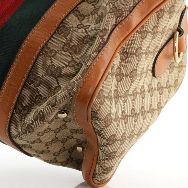 Gucci Vintage Web Boston Bag GG Canvas Medium For Sale 1