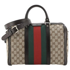 Gucci Vintage Web Boston Bag GG Canvas Medium