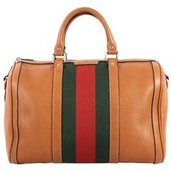 Gucci Vintage Web Boston Bag Leather Medium