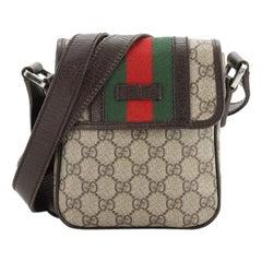 Gucci Vintage Web Crossbody Bag GG Coated Canvas Mini