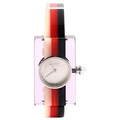 Gucci Vintage Web Rectangular Frame Quartz Watch Watch Plexiglass