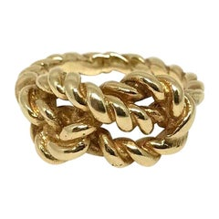 Gucci Vintage Yellow Gold Knot Ring