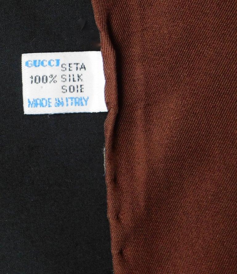Beige Gucci VintageSilk Scarf