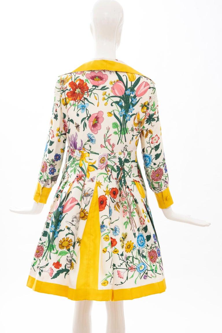 Gucci Vittorio Accornero Flora Fauna Screen Printed Silk Dress, Circa: 1970's For Sale 5
