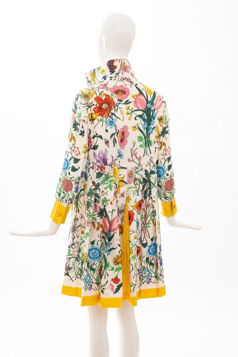 Gucci Vittorio Accornero Flora Fauna Screen Printed Silk Dress, Circa: 1970's For Sale 8