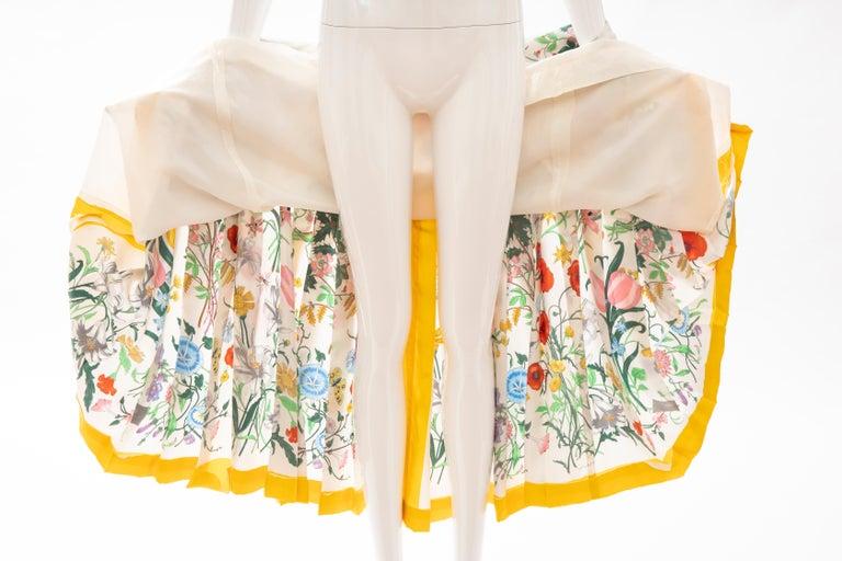 Gucci Vittorio Accornero Flora Fauna Screen Printed Silk Dress, Circa: 1970's For Sale 14