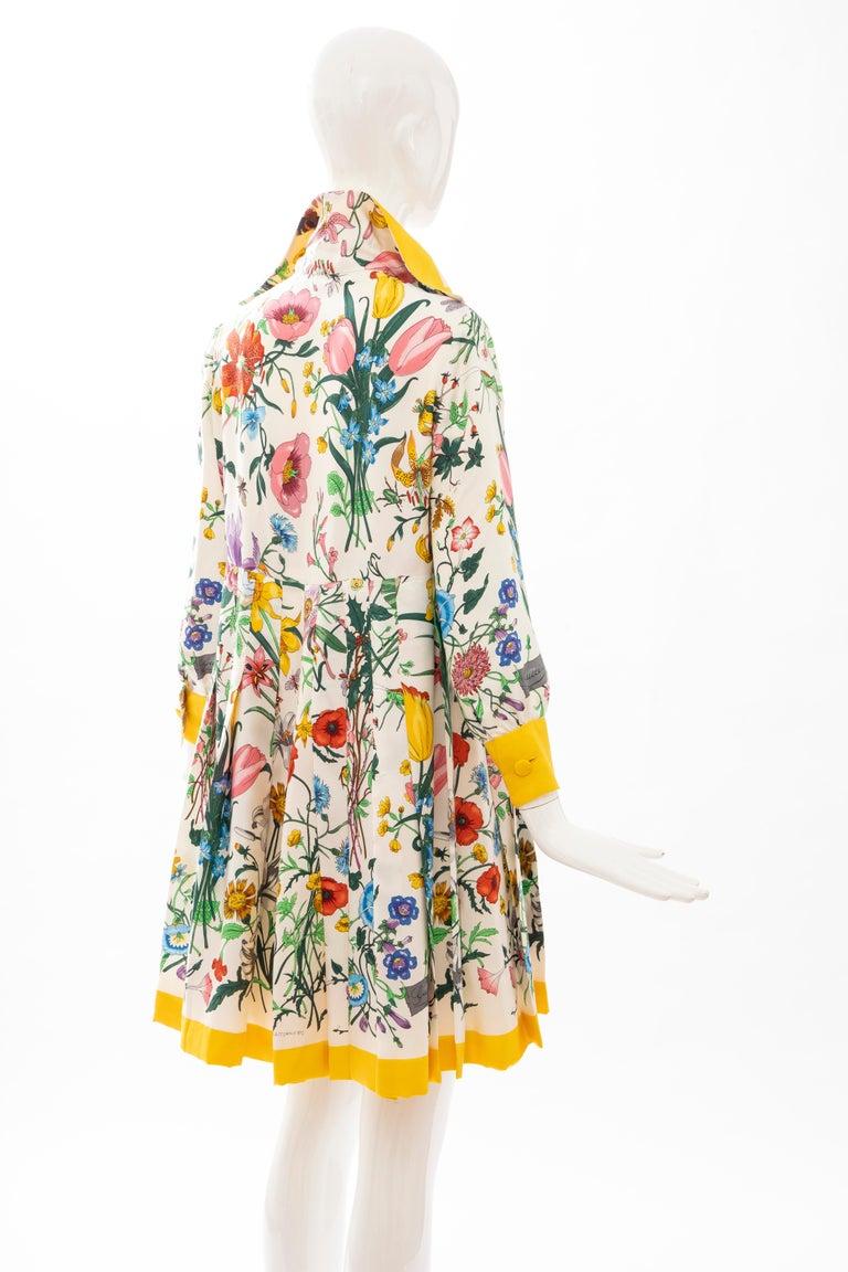 Gucci Vittorio Accornero Flora Fauna Screen Printed Silk Dress, Circa: 1970's For Sale 3