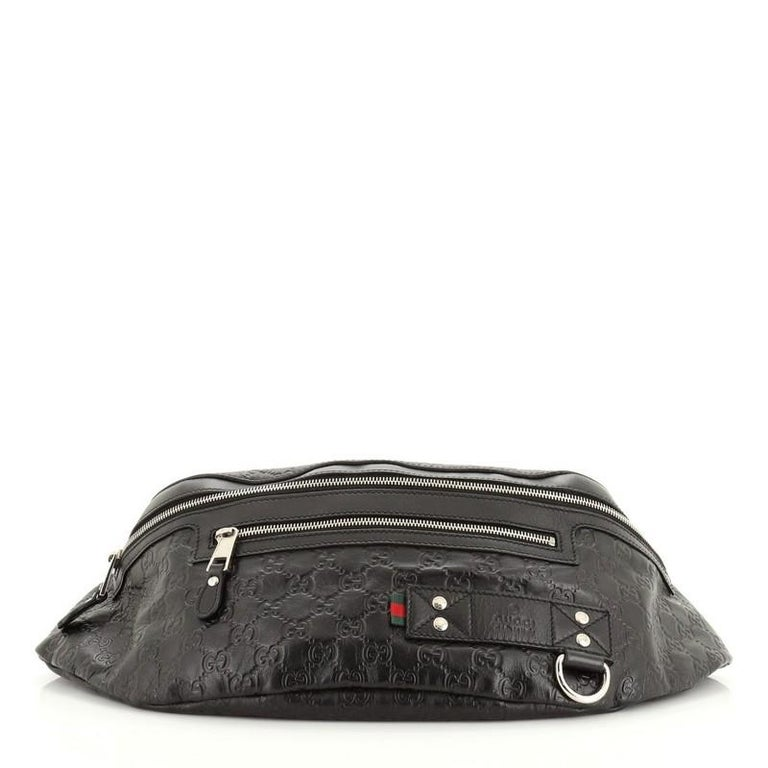 Gucci Waist Bag Guccissima Leather Large In Good Condition For Sale In New York, NY