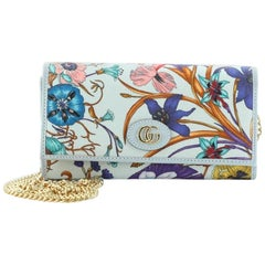 Gucci Wallet on Chain Flora Canvas