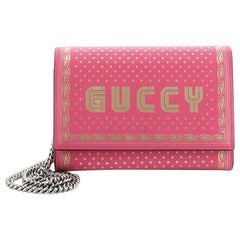 Gucci Wallet on Chain Limited Edition Printed Leather