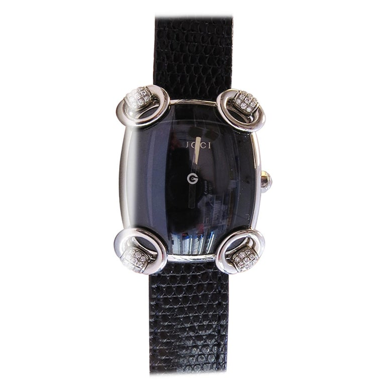 Gucci Watch with Black Dial and Diamond For Sale