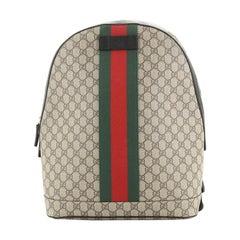 Gucci Web Backpack GG Coated Canvas Medium