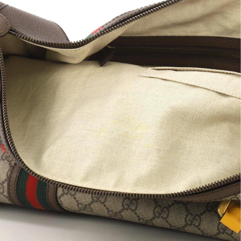 6ba6315a5 Gucci Web Convertible Duffle Bag GG Coated Canvas Large For Sale 2