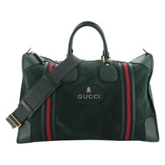 Gucci Web Convertible Duffle Bag Suede Large