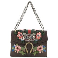 Gucci Web Dionysus Bag Embellished Leather Medium