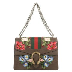 Gucci Web Dionysus Bag Embroidered Leather Medium