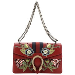 Gucci Web Dionysus Bag Embroidered Leather Small