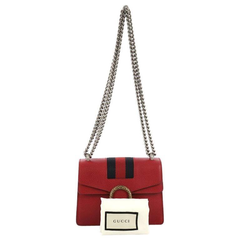 3c3fc3ed1266 Gucci Web Dionysus Bag Leather Mini For Sale at 1stdibs