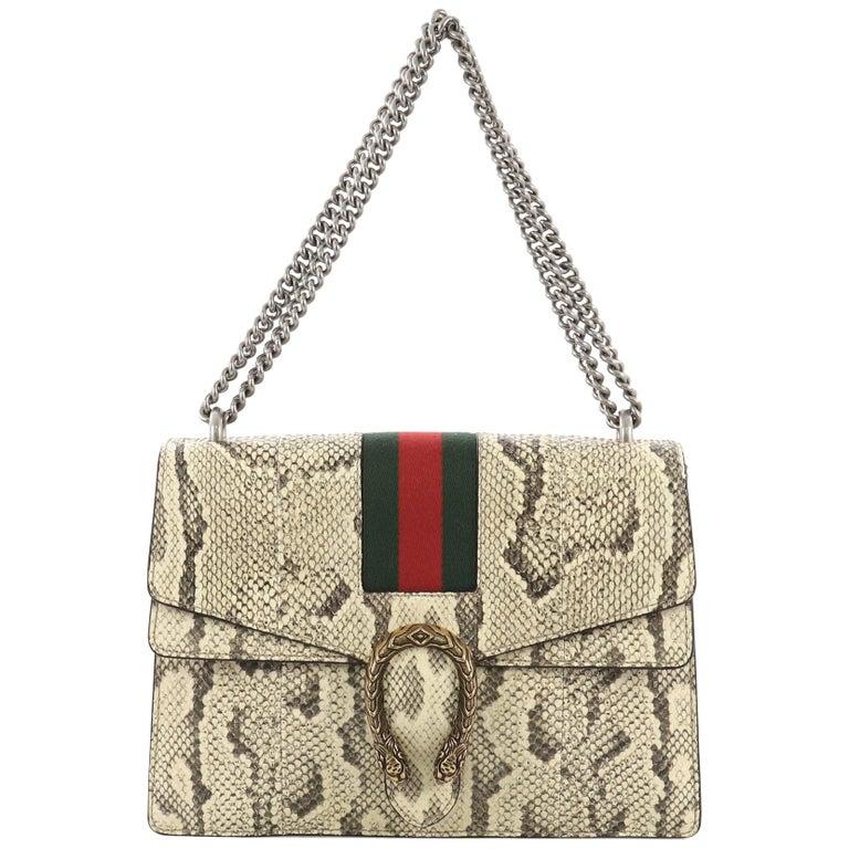 01625a6e8157 Gucci Web Dionysus Bag Python Medium For Sale at 1stdibs