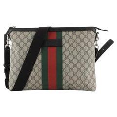 Gucci Web Messenger Bag GG Coated Canvas Large
