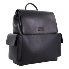 b39e1954e304 Gucci Web Pockets Backpack Leather Large