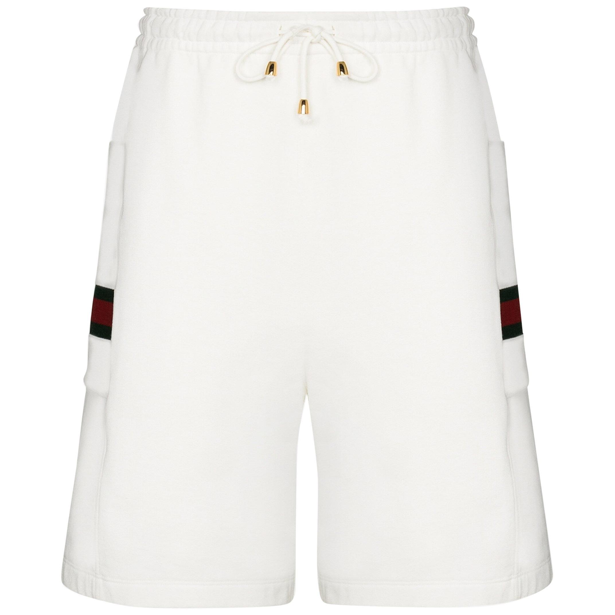 Gucci Web Stripe Cotton Track Shorts S