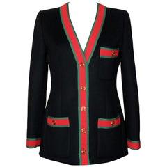 Gucci WEB Stripe Wool Jacket