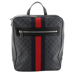 Gucci Web Zip Backpack GG Coated Canvas Medium