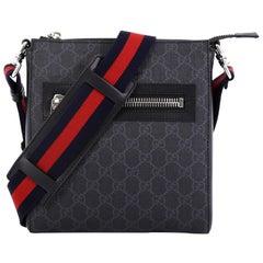 5a81382783c4ec Gucci Web Zip Messenger Bag GG Coated Canvas Small