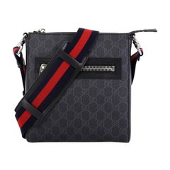Gucci Web Zip Messenger Bag GG Coated Canvas Small