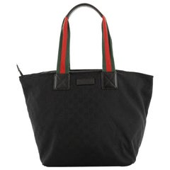 Gucci Web Zip Tote GG Canvas Large