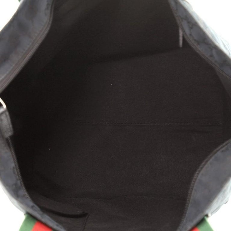 Women's or Men's Gucci Web Zip Tote GG Canvas Medium For Sale
